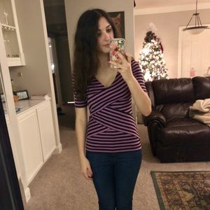Purple Striped Top